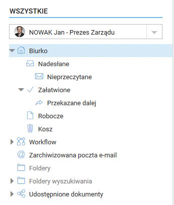 System obiegu dokumentów - możliwość przeglądu dokumentów z innych stanowisk