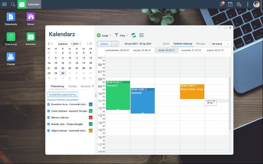 Kalendarz w systemie Ready